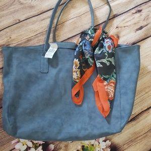 NWT Saks Fifth Avenue Blue Tote Bag